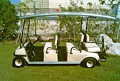 6 seater Golf Car with 4 section SolarDrive S2E