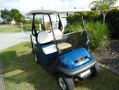 4 seater Club Car with 2 long Sun Shades 2