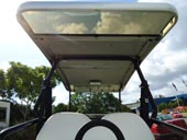 4 seater Club Car with 2 long Sun Shades 3